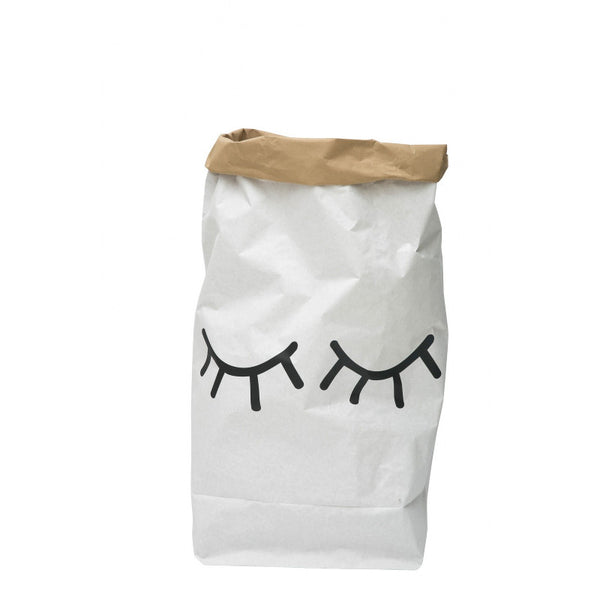 Paper Bag Closed Eyes