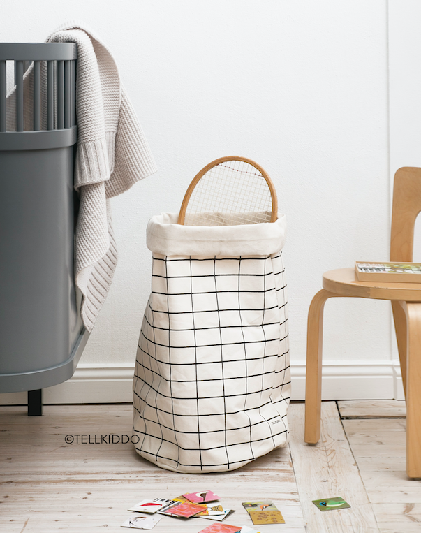 Round Canvas Bag Grid