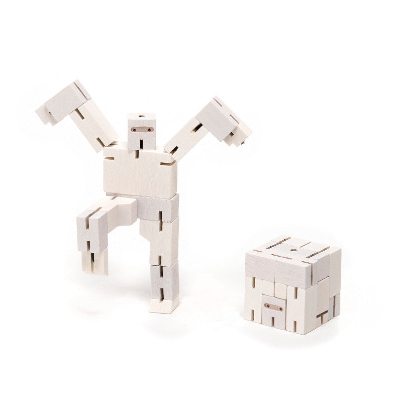 Small Cubebot Robot White