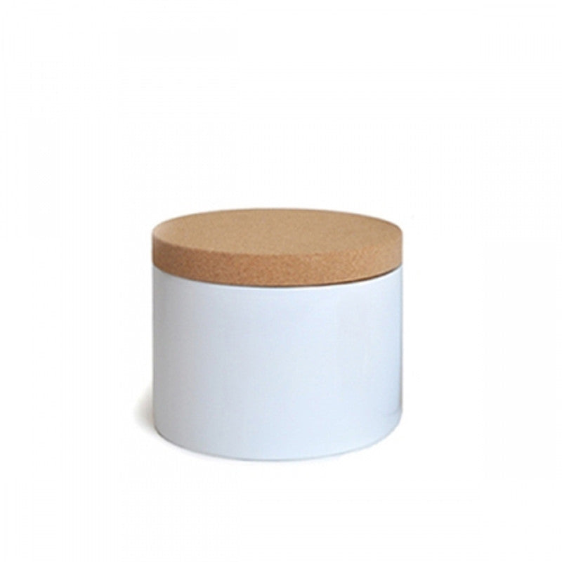 Rondo Container White Small Bamboo Box