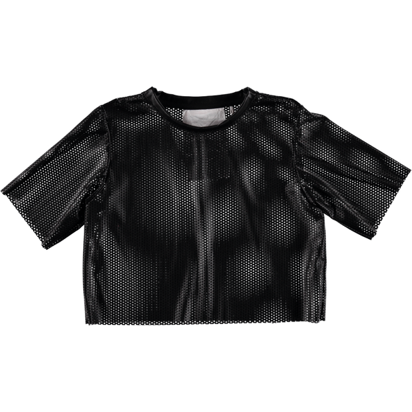 Protein 04 Black Perforated Leather Top