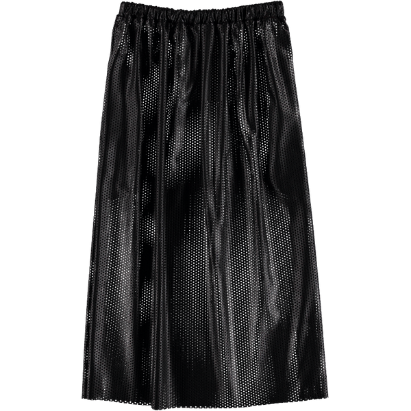 Amino Acid 04 Perforated Black Leather Skirt CAROLINE BOSMANS - www.fourmonkeys.com