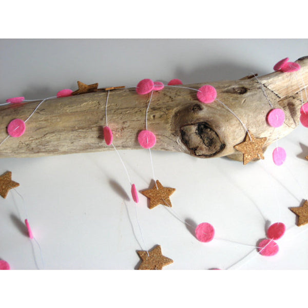Cork&Wool Felt Star Garland TWIGGY AND LOU - www.fourmonkeys.com