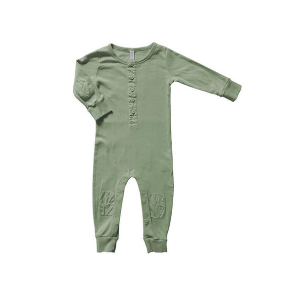 Long Body Patch Olive COTTON&BUTTON - www.fourmonkeys.com