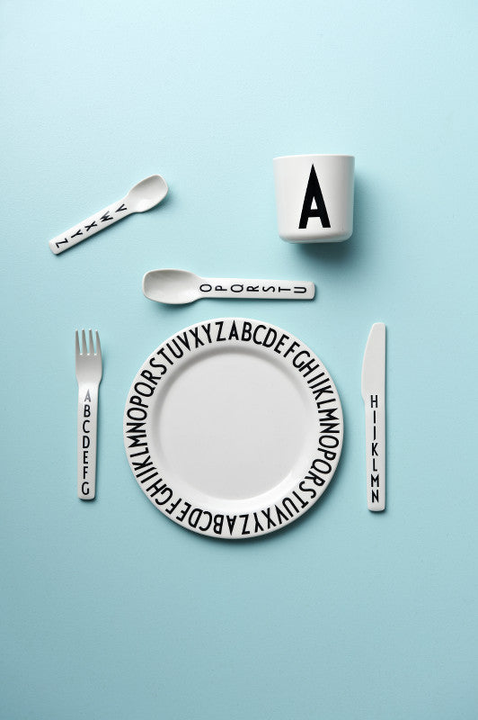 Melamine Plate with Letters DESIGN LETTERS - www.fourmonkeys.com