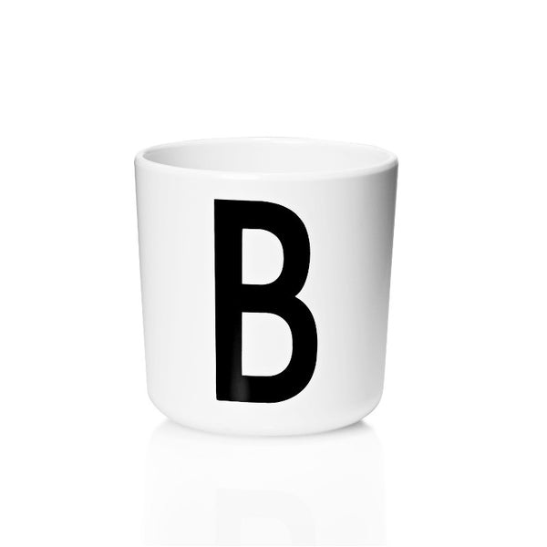 Melamine Cup with Letter DESIGN LETTERS - www.fourmonkeys.com