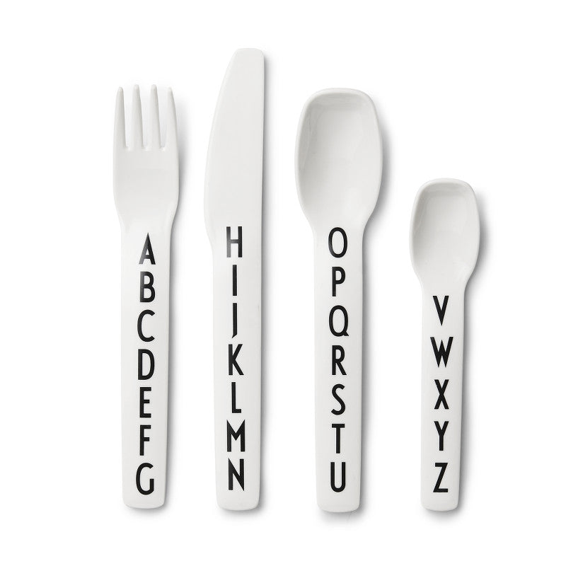 Melamine Cuttlery with Letters DESIGN LETTERS - www.fourmonkeys.com