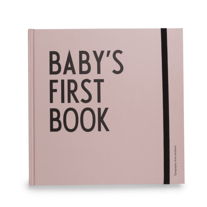 Baby's First Book Pink DESIGN LETTERS - www.fourmonkeys.com