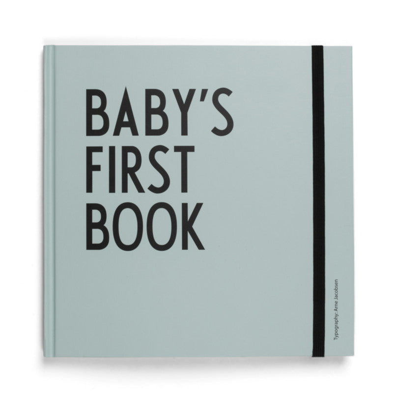 Baby's First Book Turquoise DESIGN LETTERS - www.fourmonkeys.com