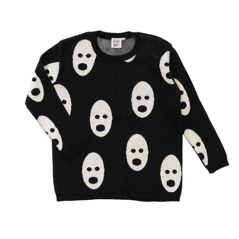 Loose Knit Jumper Ghost
