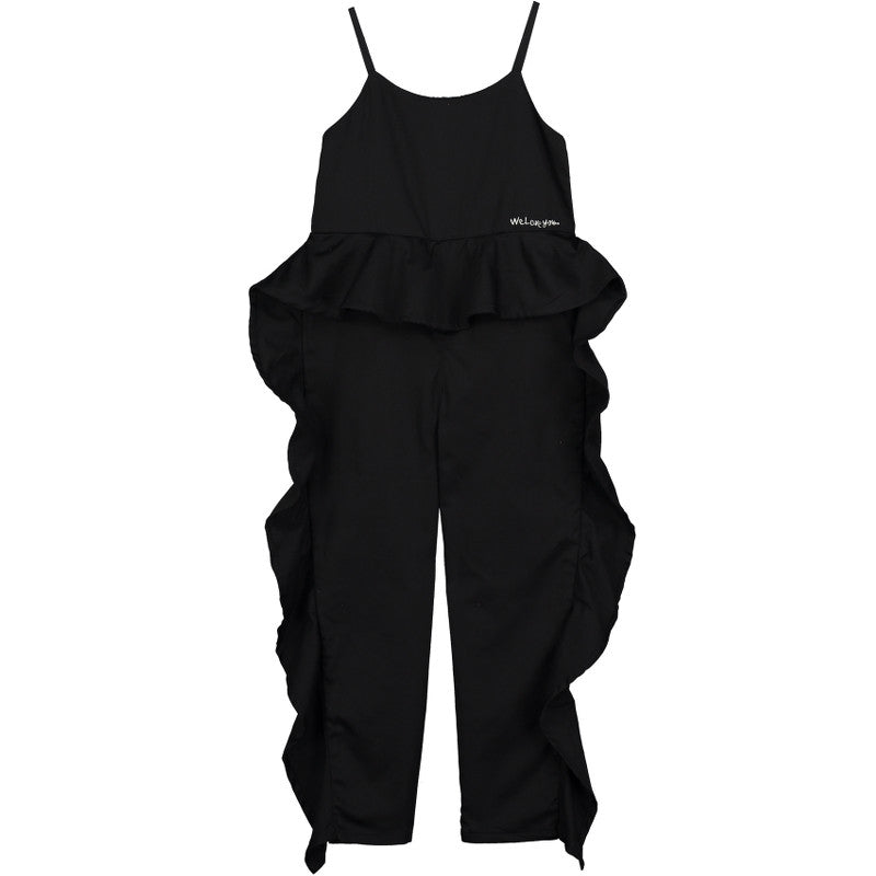 Cotton Wave Jumpsuit - Inky Black