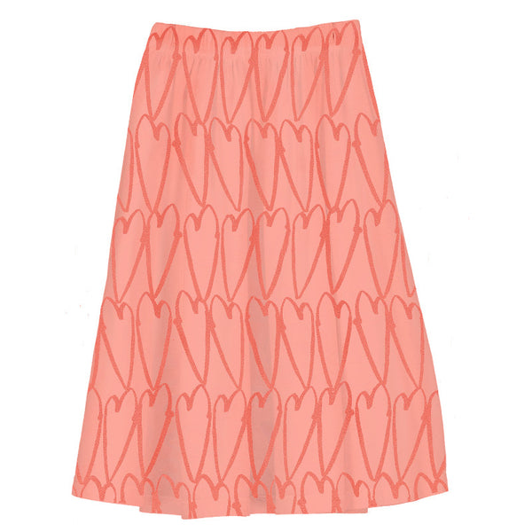 Long Length Jersey Skirt - Coral