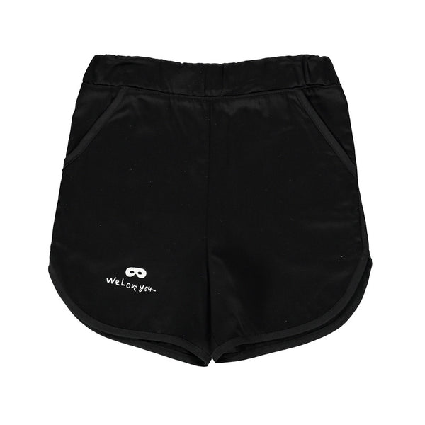 Old School Cotton Shorts - Black