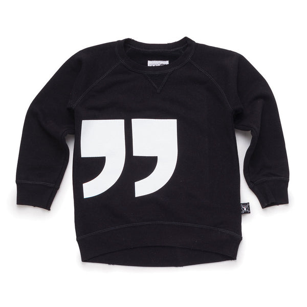 Quotation Pullover Black