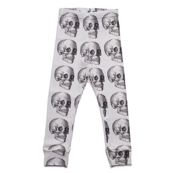 Skull Leggings White