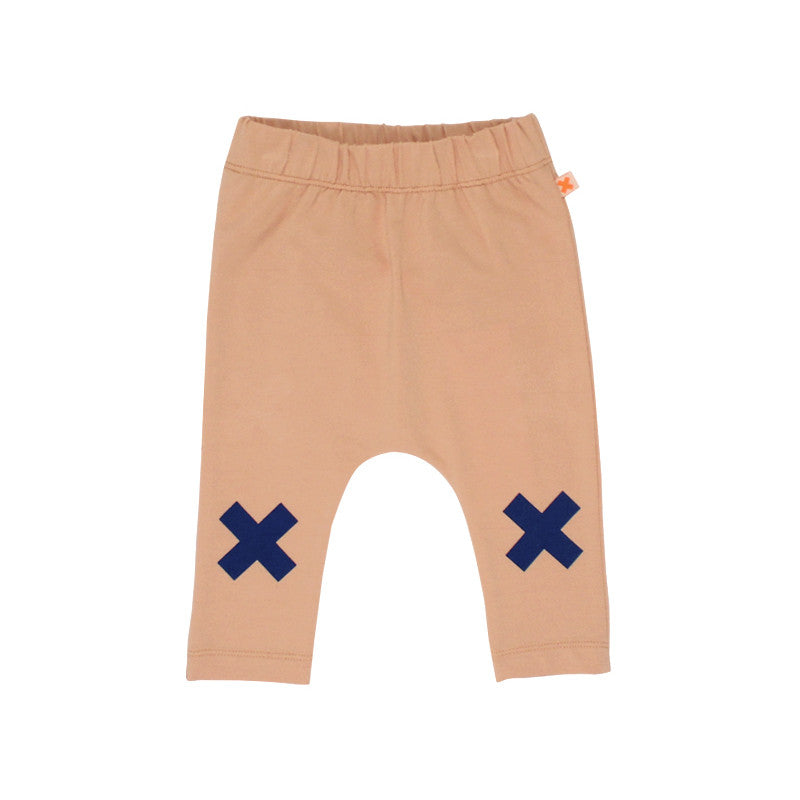 Logo Pant Nude and Blue