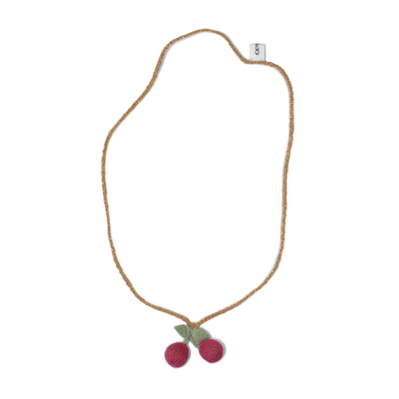 Cherry Necklace OEUF NYC - www.fourmonkeys.com