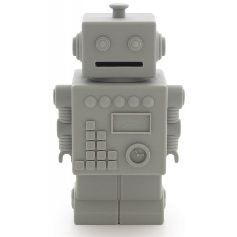 Mr. Robert Money Box Grey KG DESIGN - www.fourmonkeys.com