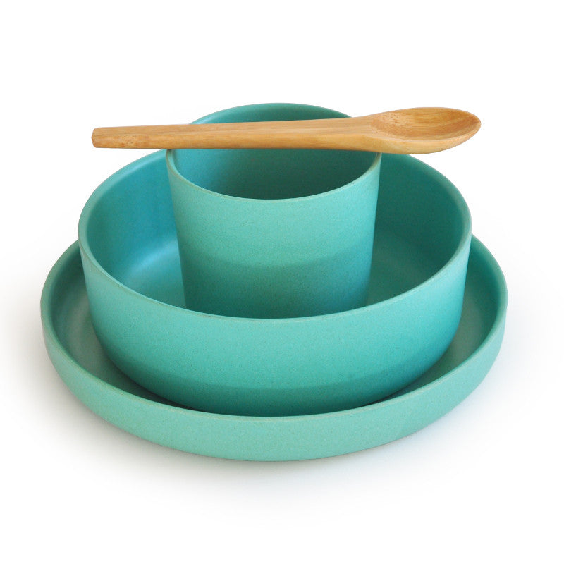 Bamboo Tableware Kidset BIOBU BY EKOBO - www.fourmonkeys.com