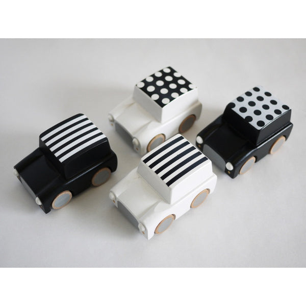 Kuruma Toy Car White with Dots KIKO+ - www.fourmonkeys.com