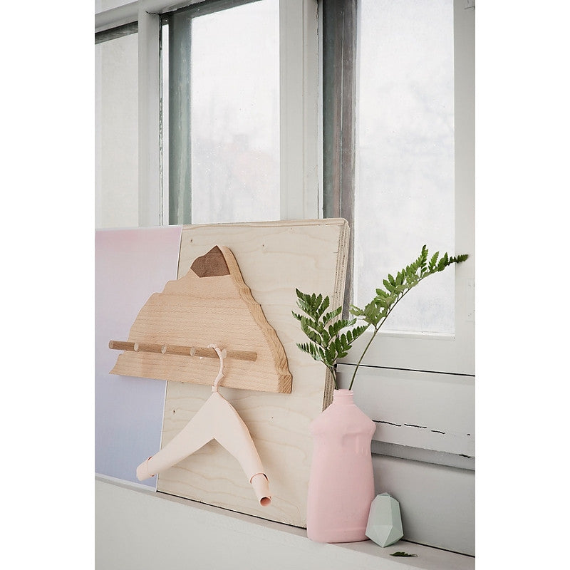 Wooden Mountain Coat Hanger
