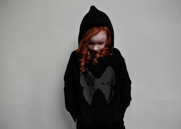 Love Cut Hoodie Butterlfy Mask