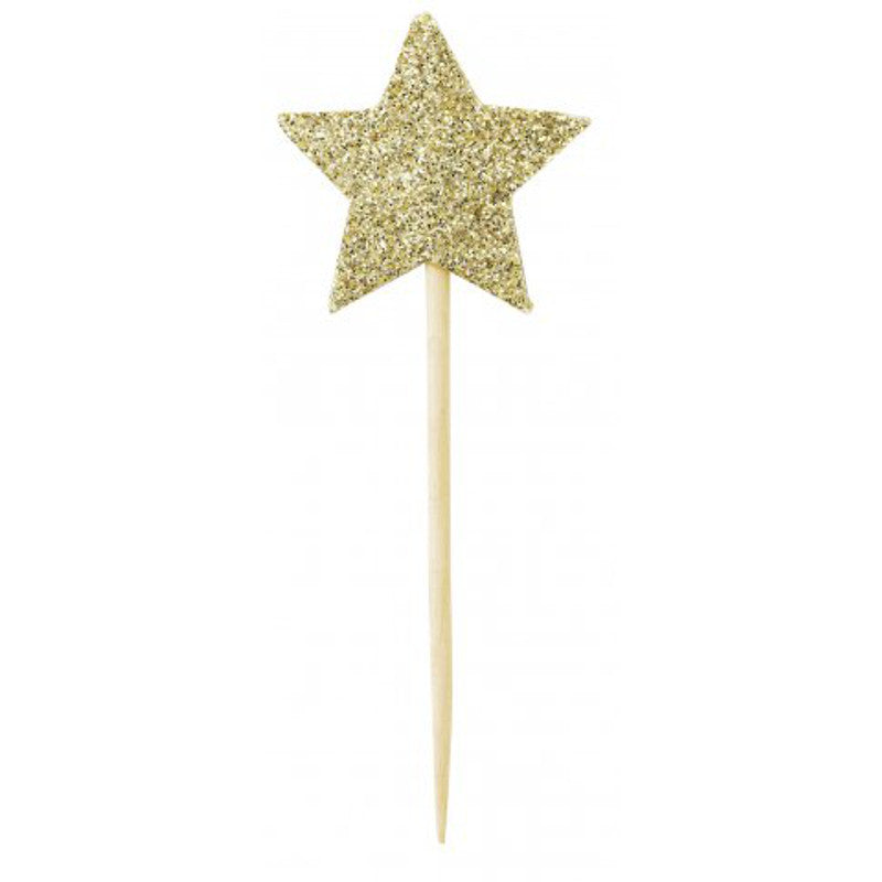 CAKE TOPPER BIG STAR GOLD MISS ETOILE - www.fourmonkeys.com