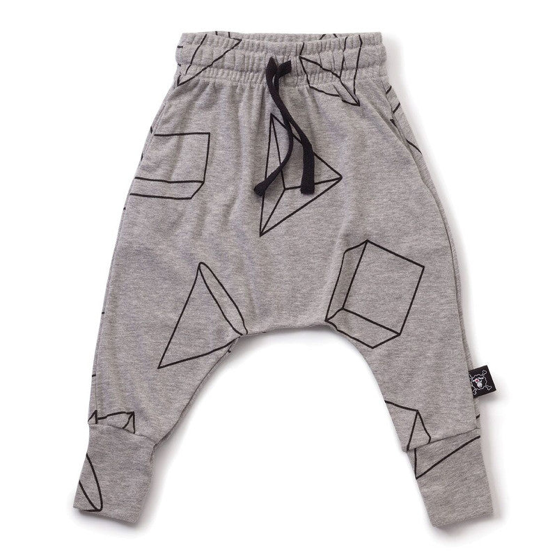Geometric Baggy Pants NUNUNU - www.fourmonkeys.com