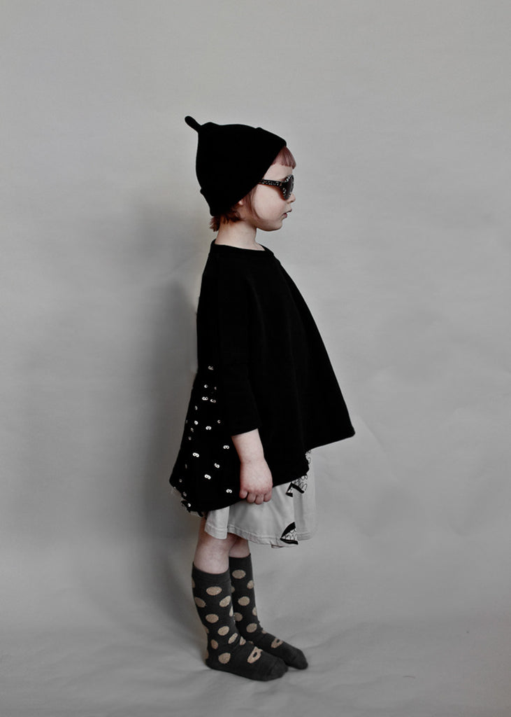 Oversized Top With Frill Back Mini Mask BEAU LOVES - www.fourmonkeys.com