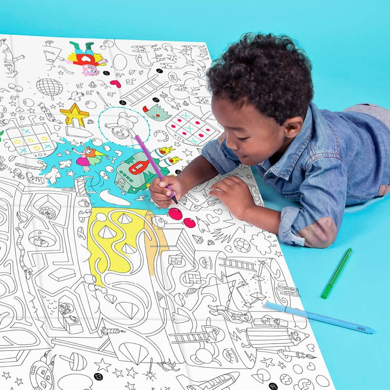 Coloring Poster Play OMY - www.fourmonkeys.com