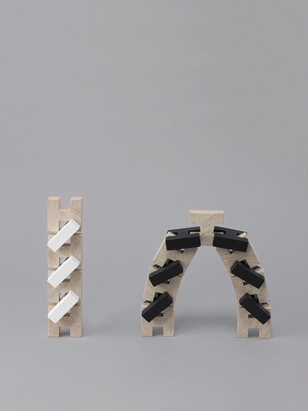 H-Block 18 Piece Set - White ROCK&PEBBLE - www.fourmonkeys.com