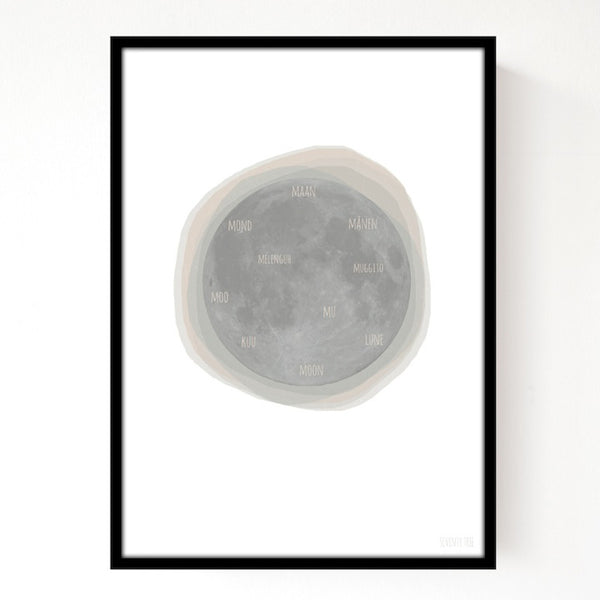 Moon Print A3 SEVENTY TREE - www.fourmonkeys.com