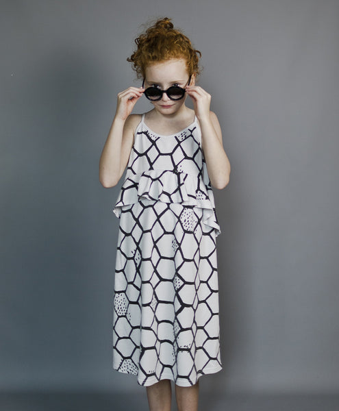 Jersey Squint Dress - Elephant Grey
