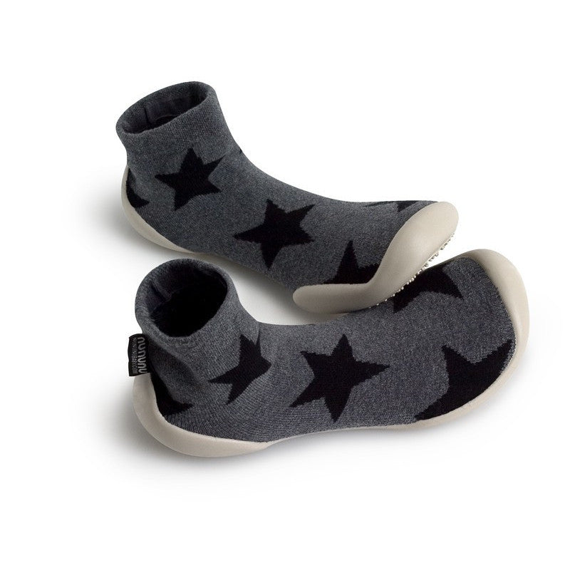 Star Slippers Grey
