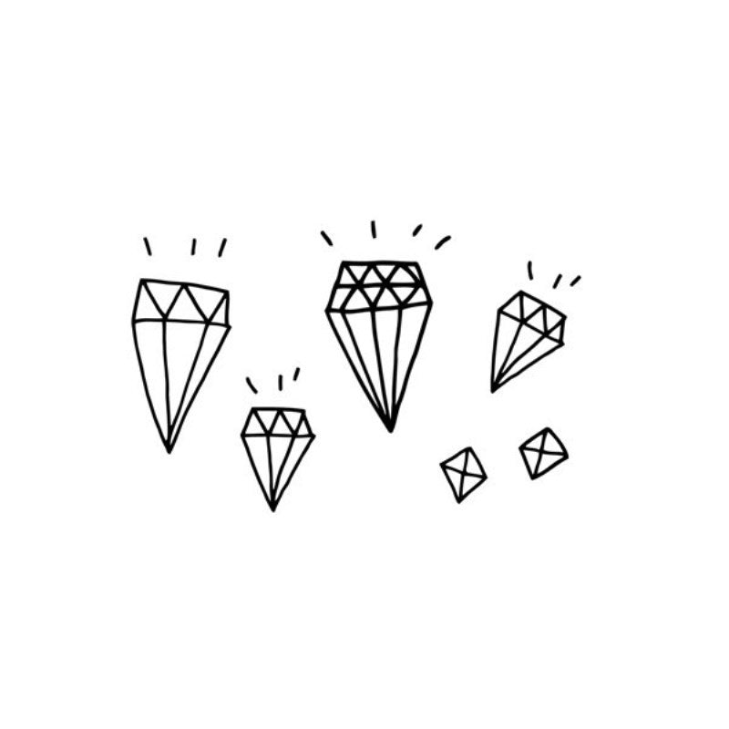 Diamonds TATTLY - www.fourmonkeys.com