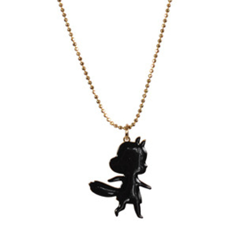 Foxy Girl Black Enamel Necklace TITLEE - www.fourmonkeys.com