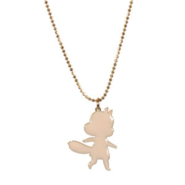 Foxy Girl Necklace Ivory Enamel TITLEE - www.fourmonkeys.com