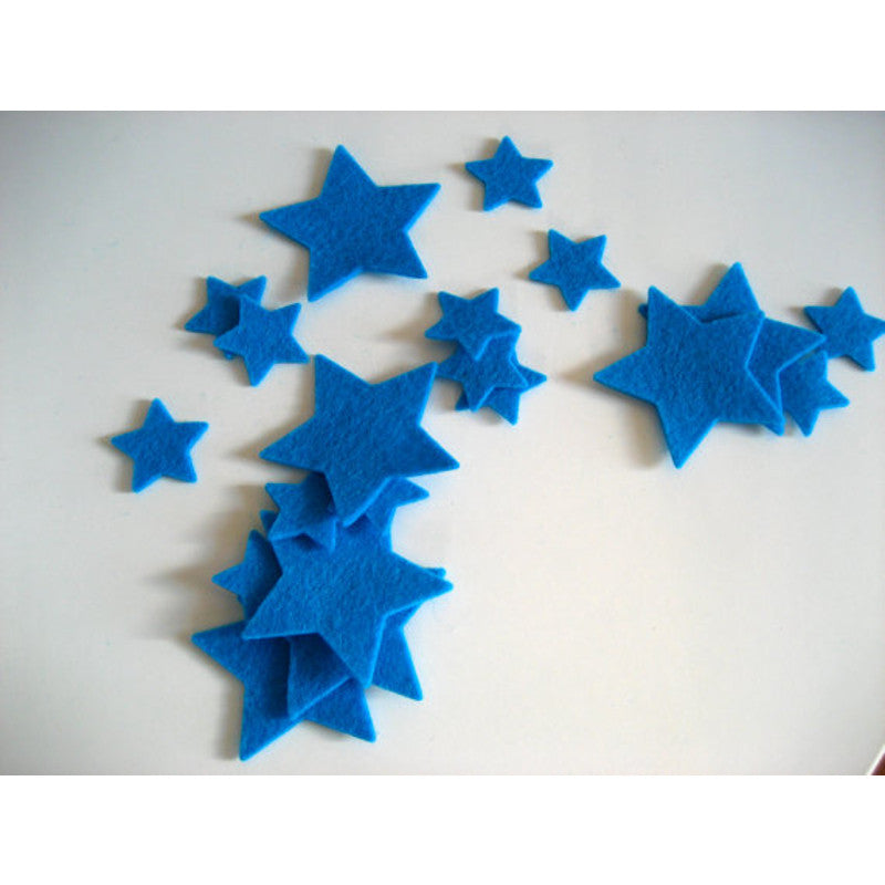 Wool Felt Garland Blue
