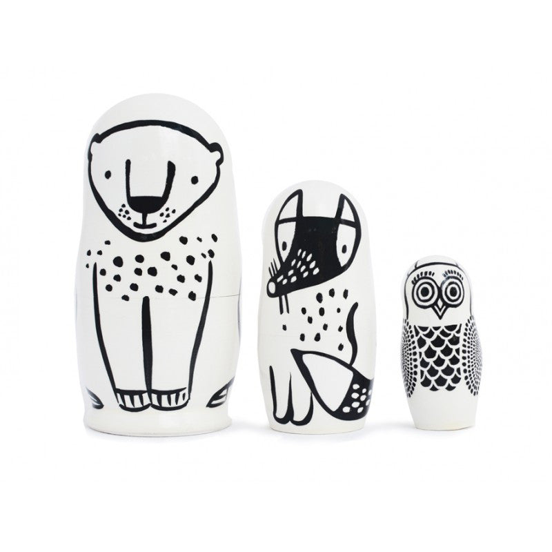 Nesting Dolls - Forest Animals WEE GALLERY - www.fourmonkeys.com