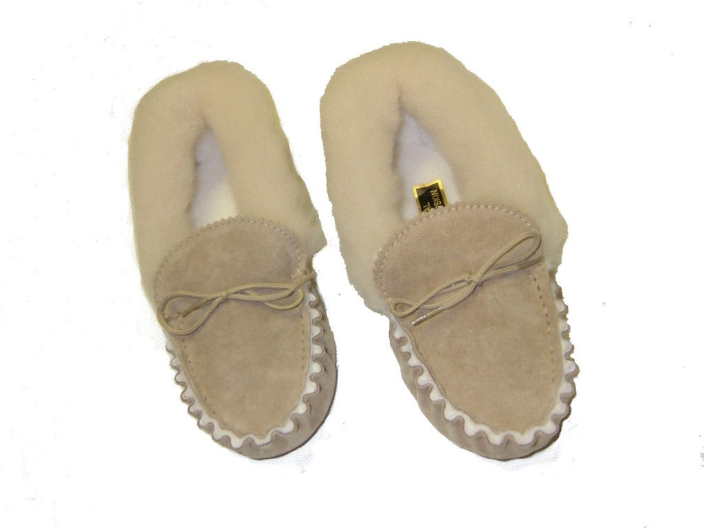 Luxury Sheepskin Lined Moccasin with Sheepskin Collar and Soft sole | Cheryl