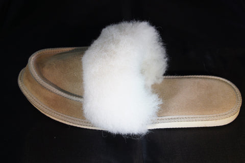 Ladies Moccasin with Wool Lining and Collar | Rachel