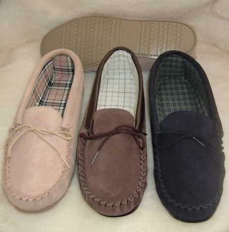 Size 13 - Suede Moccasin with Hard Sole | Daniel