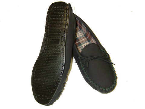 Moccasin with Wool Lining & Hard Sole | Tyler