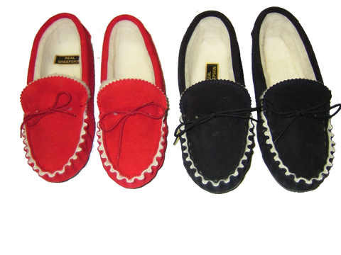 Suede Moccasin with Fabric Lining and Hard Sole | Jasmine
