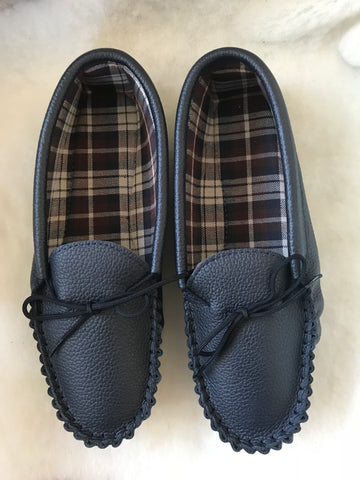 Copy of Suede Tartan lined Moccasin with Hard Sole | Scott