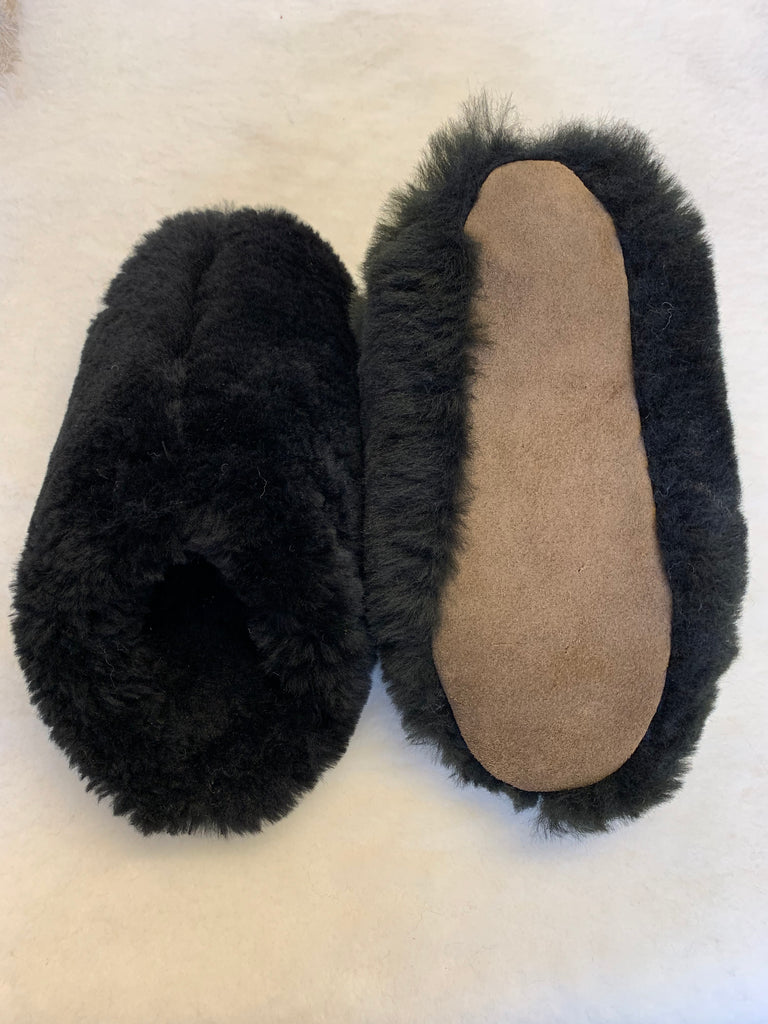 Ladies Sheepskin Fluffy Mule with Soft Sole | Kerry