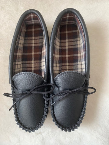 Ladies Mule with Hard Sole and Wool Lining and Collar | Pat