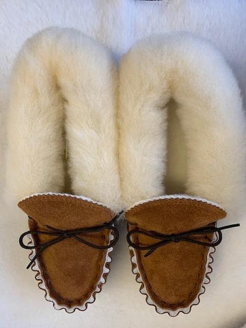 Ladies Moccasin with Wool Lining and Collar | Ella