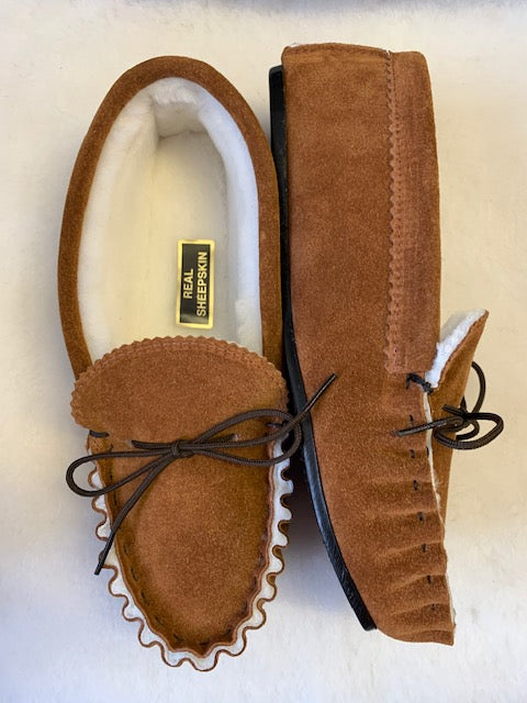 Sheepskin Lined Moccasin with Hard Sole | Arthur