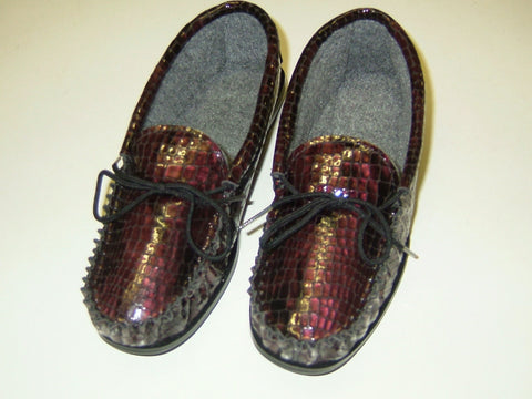 Ladies Leather Moccasin with Lining and Hard Sole | Molly